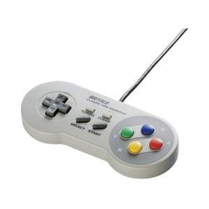 iBUFFALO USBゲームパッド スーパーファミコン風 BSGP815GY