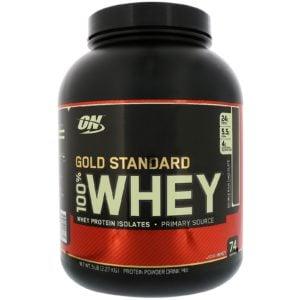 Optimum Nutrition, ゴールドスタンダード 100%ホエイ、ダブルリッチチョコレート、5ポンド(2,27 kg)