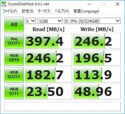 Windows10だけでSSDをRAID0で構築して高速化する方法 RAID0構築後の速度計測