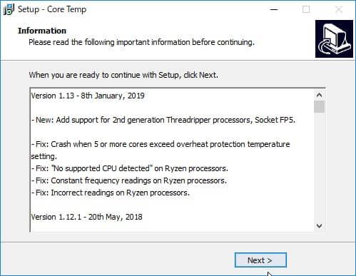 Core Tempのインストールpart6