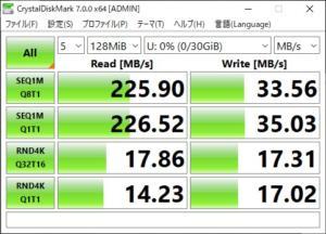 samsung fit CrystalDiskMark 128MB