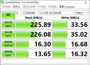 samsung fit CrystalDiskMark 256MB