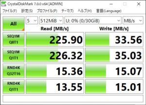 samsung fit CrystalDiskMark 512MB