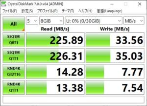 samsung fit CrystalDiskMark 8GB