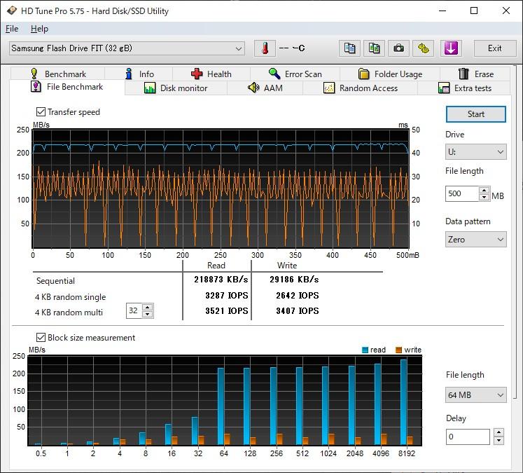 samsung fit HD Tune Pro5.75